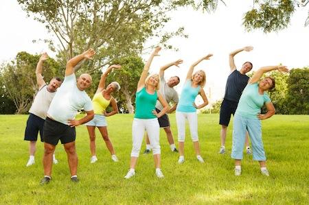 Photo of People doing flexibility exercises