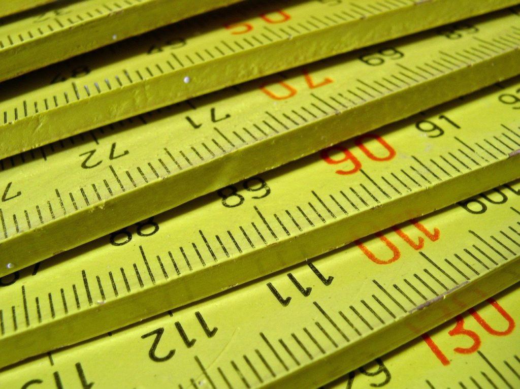 Yellow folding ruler